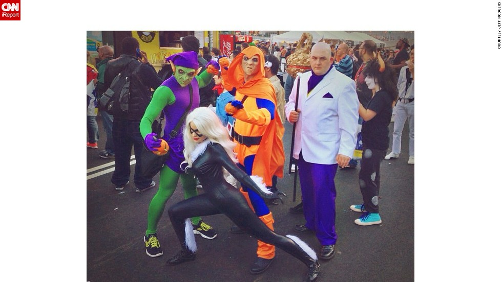 "<a href=""http://instagram.com/p/faq8bCCDA3/"" target=""_blank"">Spider-Man's enemies</a> -- Green Goblin, Hobgoblin and Kingpin, along with sometimes friend Black Cat -- would not be outdone."