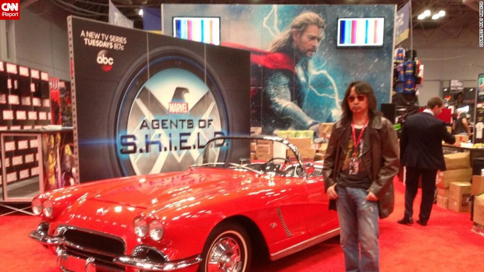 "Ruby Rinesko joked that early convention attendees might get to <a href=""http://t.co/nAeUStpoy3"" target=""_blank"">""touch Lola,""</a> referring to a line about Agent Coulson's car on the hit ABC series ""Marvel's Agents of S.H.I.E.L.D."""