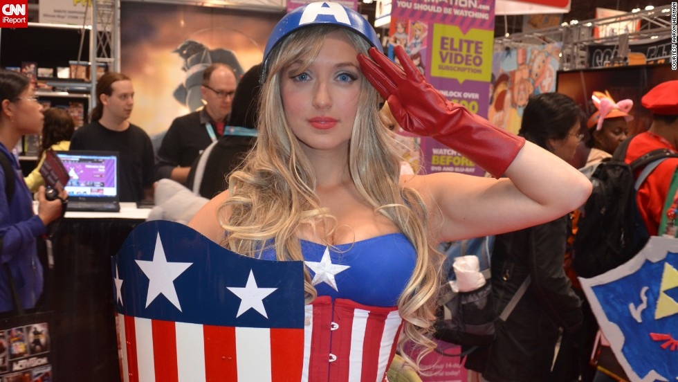 "Captain America has grown in popularity with cosplayers since his 2011 movie, and<a href=""http://ireport.cnn.com/docs/DOC-1047486""> female interpretations</a> of ""Cap"" are no exception to that."