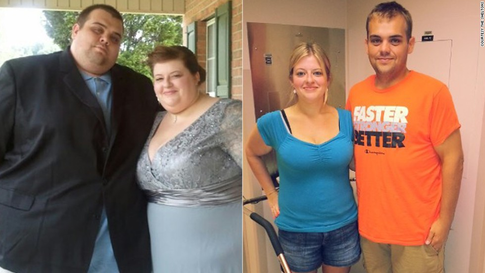 "In February 2012, Justin and Lauren Shelton began a 19-month journey to take control of their health. The couple <a href=""http://www.cnn.com/2013/10/14/health/weight-loss-sheltons/index.html"">lost a combined 538 pounds</a> by overhauling their diets and hitting the gym."