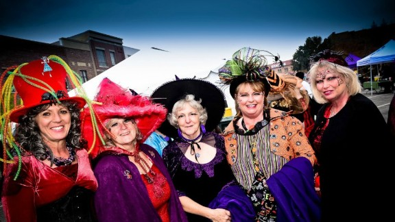 Thousands of witch-trussed revelers descend on Historic 25th Street -- a street supposedly 'too wild' for Al Capone -- to engage in Witchstock, a witch-themed celebration in the month of October.