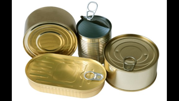 Canned food: BPA epoxy resins can leach into your food from the lining of metal food cans. In one CDC study, researchers found traces of BPA in the urine of nearly all 2,517 participants.