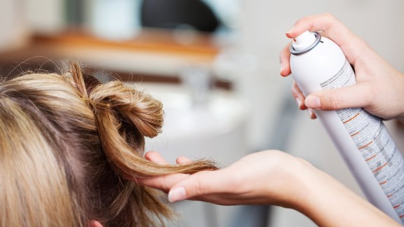 Hair spray: Phthalates are also used in hair spray to help avoid stiffness; phthalates allow the spray to form a flexible film on the hair, according to the FDA.