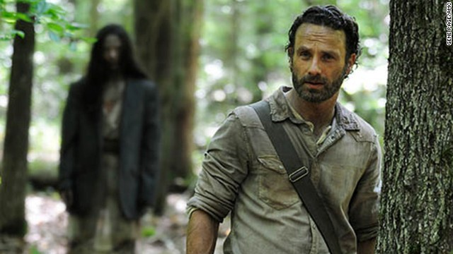 "Rick Grimes (Andrew Lincoln) in Episode 1 of season 4 of ""The Walking Dead."""