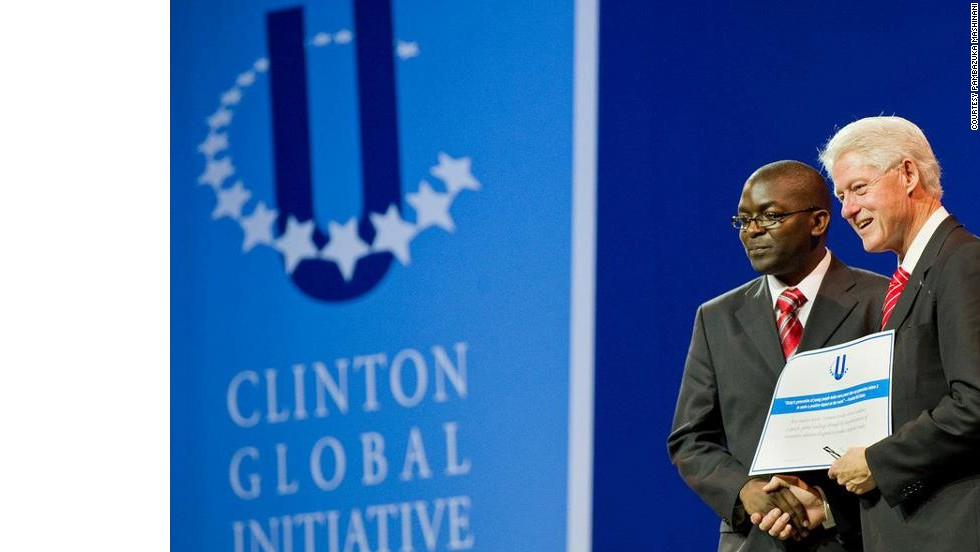 While studying in the United States, Otieno was recognized by former President Bill Clinton at the Clinton Global Initiative, for his initiative to help pregnant women in Korogocho.