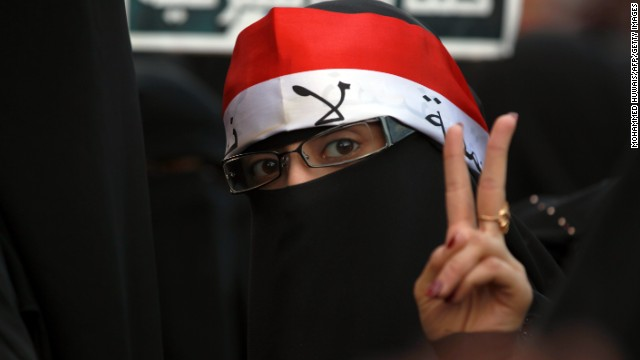 Yemenis march during a rally in the capital Sanaa, on September 18, 2013.