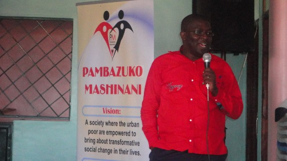 """""""People say we are poor because we are lazy, but I started seeing it through a different lens altogether,"""" says Otieno. """"People are poor because we are denied equal opportunities to access to education, access to health and also to have better living standards."""""""