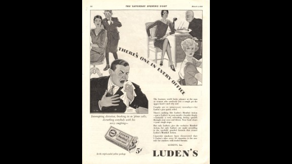 """In the 1930s, Luden's advertised their cough tablets as """"quick relief"""" for annoying hacking. Luden's is still a cold remedy company, although their drops are now marketed to soothe sore throats."""