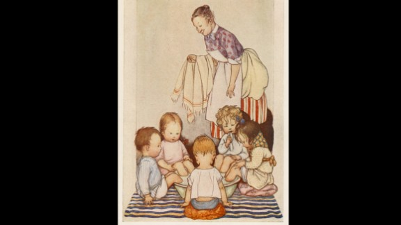 In this 1920s book illustration, five sick kids sit with their feet in a tub of mustard and hot water. Caregivers used mustard footbaths to draw blood to the feet, which was said to help relieve congestion.