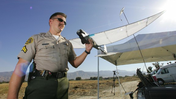 """Drones, often more resilient than humans, make for an ideal search party, as they can be pre-programmed to scan an area inch-by-inch. <a href=""""http://sheriff.lacounty.gov/wps/portal/lasd"""" target=""""_blank"""" target=""""_blank"""">Los Angeles County Sheriff's Department</a> began experimenting with the SkySeer Search and Rescue drone as early as 2006."""