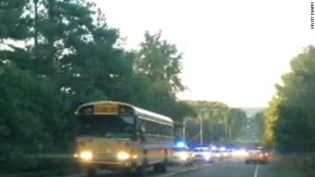 See police chase hijacked school bus