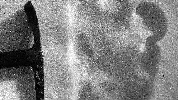 A footprint of Yeti, discovered near Mount Everest in 1951.