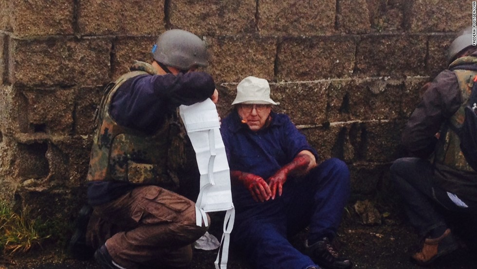 After a simulated bomb attack during a training exercise, inspectors must find survivors and administer first aid to actors portraying victims of the blast.