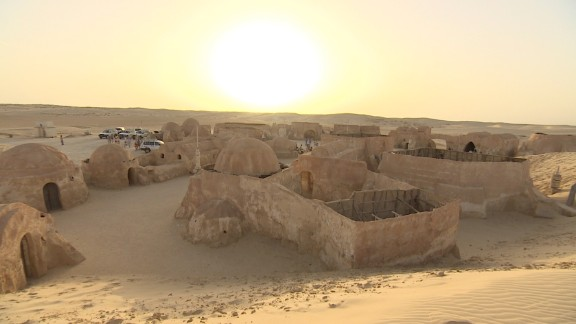 George Lucas filmed various parts of his Star Wars series in the Tunisian Sahara desert, including scenes set on the planet Tatooine.