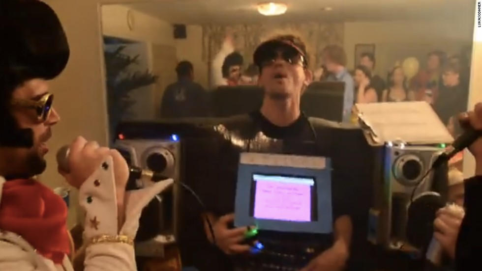 "If you're going to be a gadget, be a fun one. <a href=""http://www.youtube.com/watch?v=y68WJ9KD33M"" target=""_blank"">A YouTube user named lukasodhner</a> dressed up as a fully functional, battery-operated karaoke machine. He had a songbook, speakers, lyrics and a friend dressed like Elvis Presley."