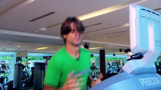 A workout with David Ferrer