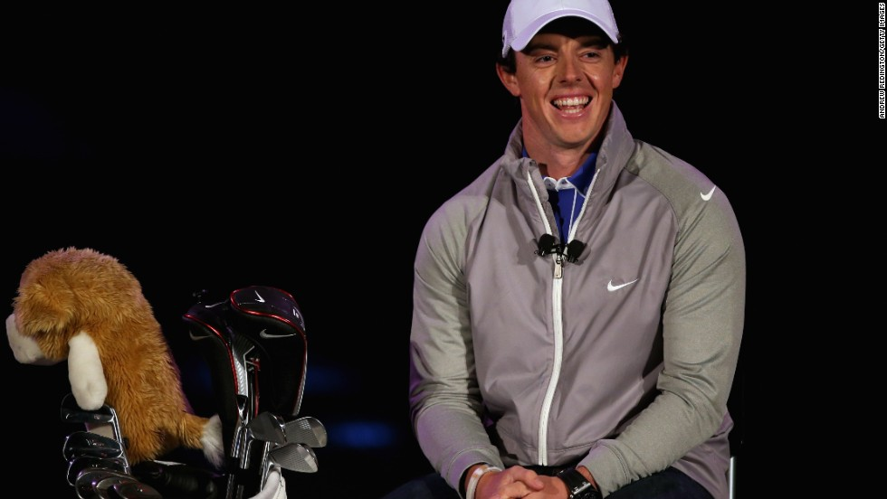 Rory McIlroy was all smiles when he is unveiled as a Nike ambassador in January 2013, but he now is involved in a legal battle with his former management company over its commission on the multimillion-dollar deal.