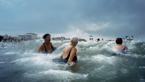 "Amy Toensing captured these women swimming on America's Jersey Shore with an underwater camera. ""There's a beautiful lack of control that happens when you're out in those swells. I think this picture gives you that feeling,"" she said."