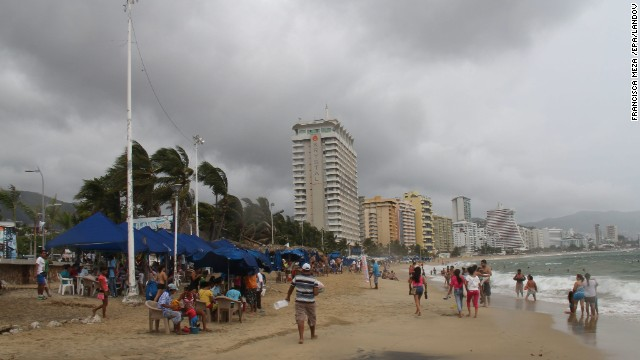 Tropical Storm Raymond brought cloudy skies to Acapulco, Mexico, on Sunday, before it strengthened into a hurricane.