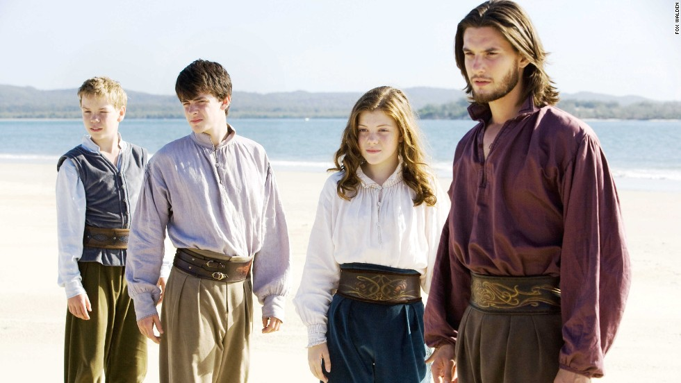 "C.S. Lewis' famous series hit the big screen with ""The Lion, The Witch and the Wardrobe"" in 2005. The franchise continued with ""Prince Caspian"" in 2008 and ""The Voyage of the Dawn Treader"" (pictured) in 2010. ""The Silver Chair"" has been announced, but there is no release date. Fans had mixed reactions to the films. The first movie grossed $291 million, while the third only netted $104 million. From left, Will Poulter, Skandar Keynes, Georgie Henley and Ben Barnes."