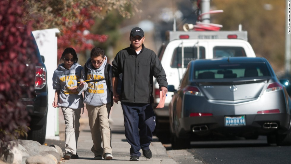 Authorities said students were being taken to a nearby high school to meet their parents. School has been canceled for the week at both the elementary and middle schools, officials said.