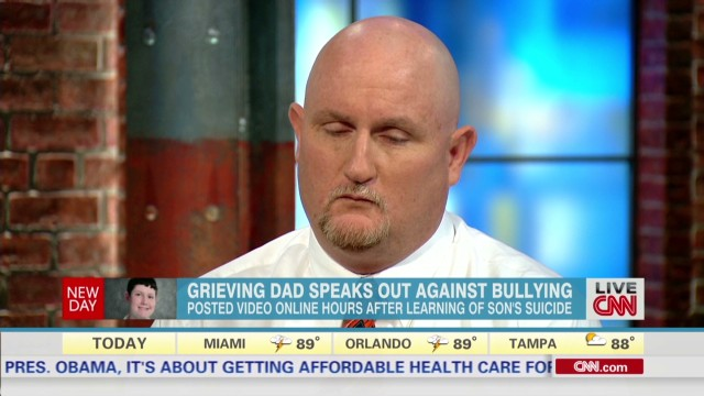 Grieving dad speaks out against bullying
