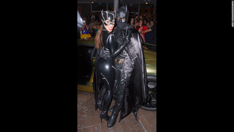 ... On October 31, 2012, the couple traded their seafaring costumes for capes and leather at a Halloween party in Miami.