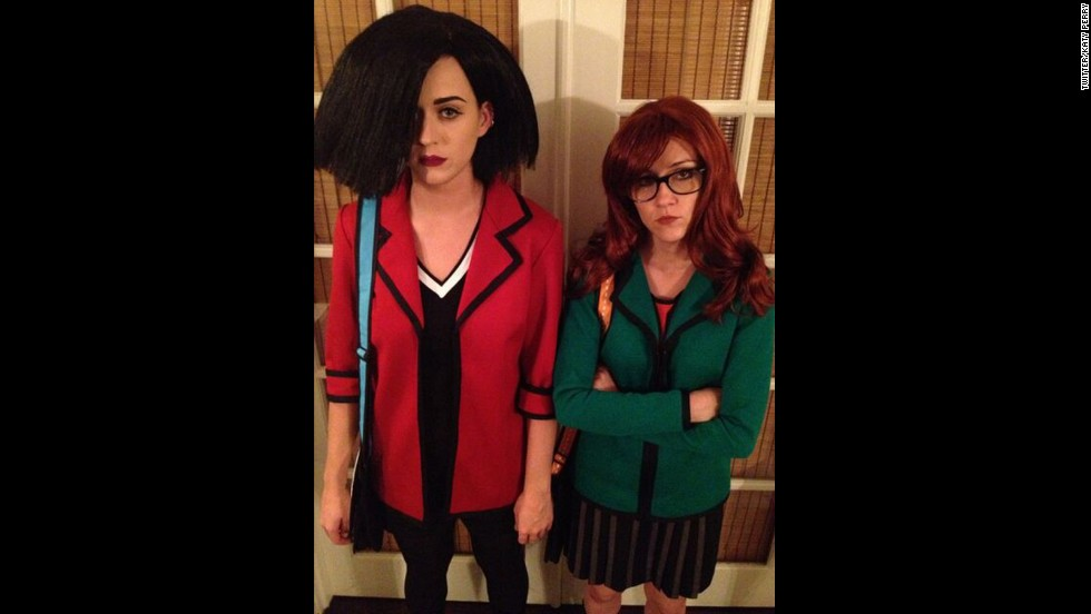 "Katy Perry and her pal Shannon Woodward <a href=""https://twitter.com/katyperry/status/263890302392209408"" target=""_blank"">went as one of our favorite BFF pairs</a>, Daria Morgendorffer and Jane Lane, for Halloween in 2012."