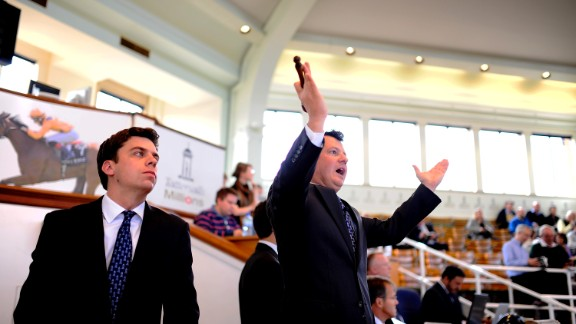 Bidding can get to a frenzy as the highly skilled auctioneers whip up the crowds.