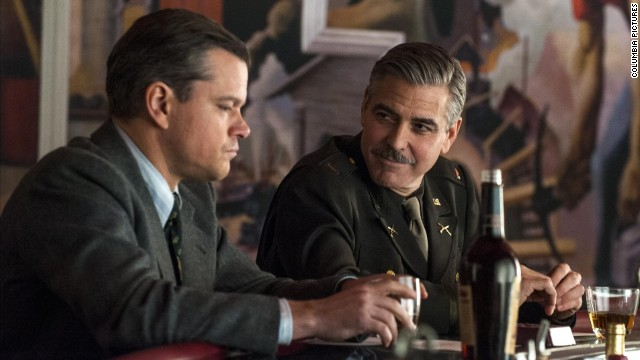 "Matt Damon and George Clooney star in the World War II drama ""The Monuments Men."""