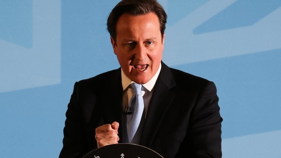 British Prime Minister David Cameron announces in March a new clampdown on immigration with plans to restrict benefits.