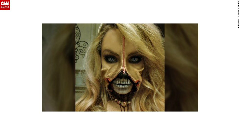 There is something disturbingly attractive about this gruesome Halloween costume made by makeup artist Amanda Kroon  sc 1 st  CNN.com : zipper face halloween costumes  - Germanpascual.Com