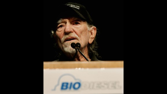Willie Nelson is the founder of the brand BioWillie Biodiesel, a petroleum alternative made from vegetable oil and waste fats. It's been used to power the country star's tour bus.