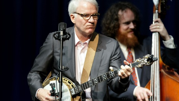 Steve Martin escapes from acting in movies by performing as a bluegrass musician. He plays banjo -- sometimes with the Steep Canyon Rangers -- and even created the Steve Martin Prize for Excellence in Banjo and Bluegrass. He got a bluegrass award himself in October.