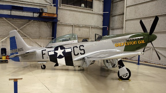 """The """"Galveston Gal"""", a TF-51 training varient of the P-51 Mustang fighter aircraft, (seen in this photo from September 2011) crashed."""