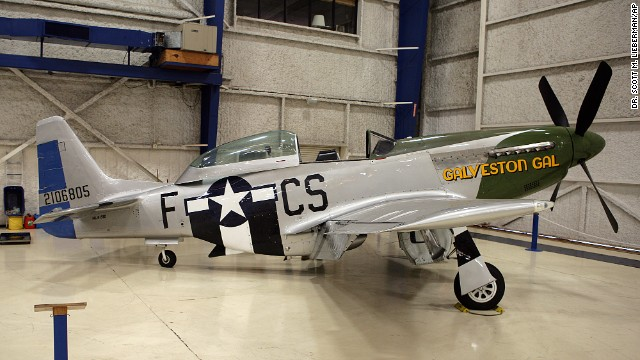 "The ""Galveston Gal"", a TF-51 training varient of the P-51 Mustang fighter aircraft, (seen in this photo from September 2011) crashed."