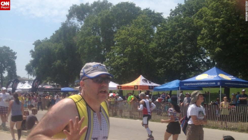 "Completing a half Ironman in July was Hyatt's proudest accomplishment to date. ""When you get to that finish line ... it brought tears to my eyes,"" he said. ""At the same time, it was a stark reality that I'm only at half of where I need to be."""