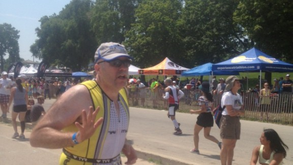 Completing a half Ironman in July was Hyatt