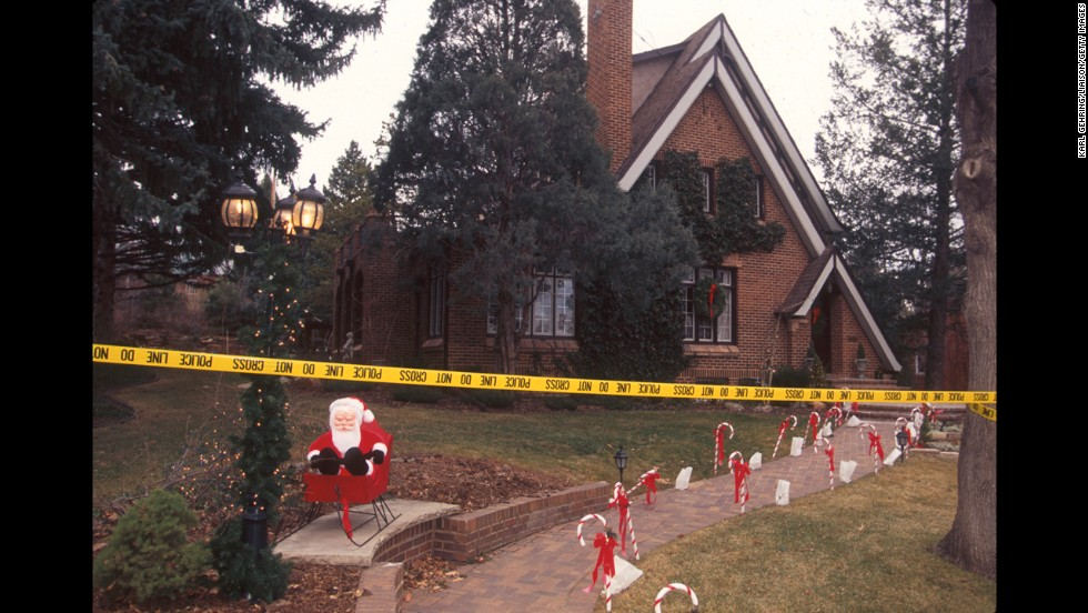 Police tape off the home of John and Patsy Ramsey in Boulder in December 1996. Patsy said she found a ransom note demanding $118,000 for JonBenet's return. Their daughter was found dead in their basement that same day.