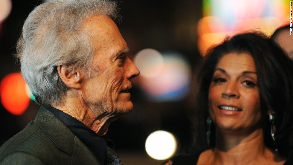 Director Clint Eastwood Pictured With His Wife Dina Eastwood In Hollywood California November 3