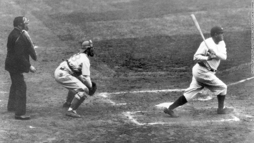"In his new book, ""One Summer: America, 1927,"" author Bill Bryson explores the turmoil and triumph of a few months in American history. Click through the gallery to see some of the events that unfolded.<br /><br />In September 1927, Babe Ruth of the New York Yankees hit his 60th home run of the season, a record that stood for decades."
