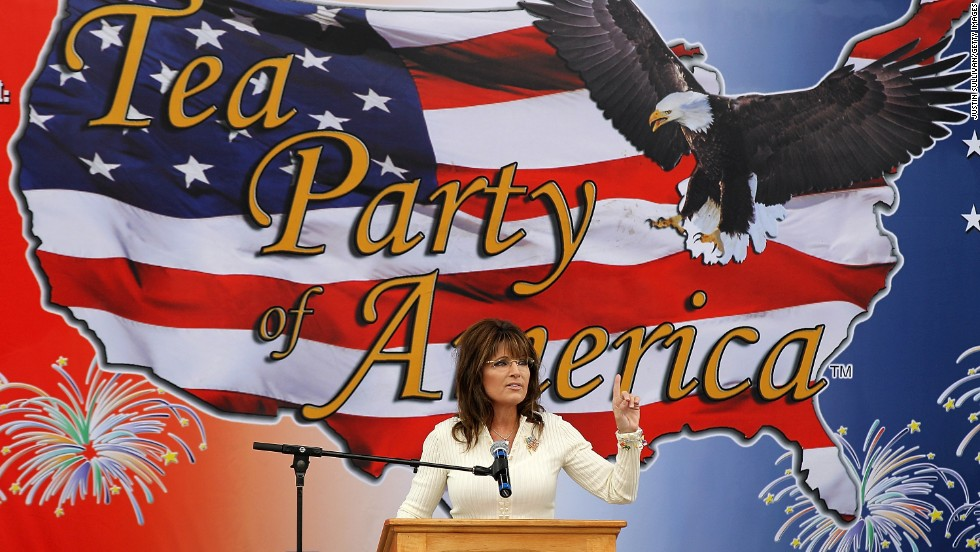 "Palin speaks during the Tea Party of America's ""Restoring America"" event in Iowa in September 2011. Supporters had hoped that she would use the event to announce that she was running for president."
