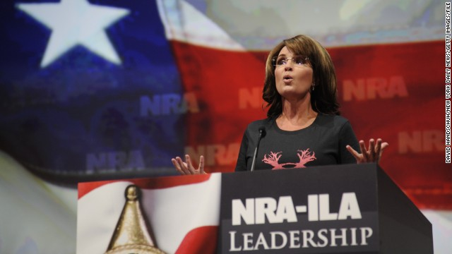 Sarah Palin speaks at the National Rifle Association Leadership Forum in Houston in May.