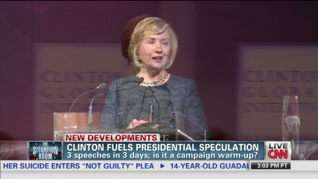Clinton warming up for 2016 campaign?