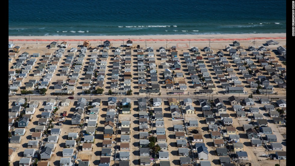 Homes in Seaside Heights, New Jersey, are shown October 21.