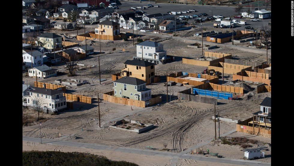 New homes are going up among vacant lots in Breezy Point on October 21.