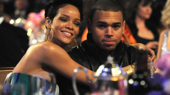 Rihanna and Chris Brown attend the Grammy Salute to Industry Icons in Beverly Hills, California, on February 7, 2009.
