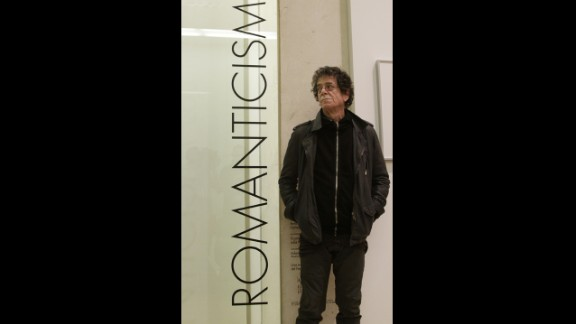 Reed poses at the Modern and Contemporary Art Museum on April 29, 2010, in Palma de Mallorca, where an exhibition of Reed