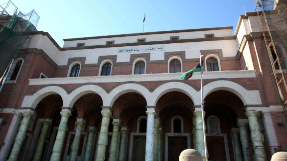 Image #: 25111201    epa03928819 An exterior view of the Libyan Central Bank headquarters in Tripoli, Libya, 29 October 2013. Media reports state that gunmen on 29 October attacked a van operated by the Libyan Central Bank, and got away with the equivalent of 54 million dollars. The van was carrying the money from the airport of the central city of Sirte to the central bank's branch in the city, located 500 kilometers east of the Libyan capital Tripoli.  EPA/SABRI ELMHEDWI /LANDOV