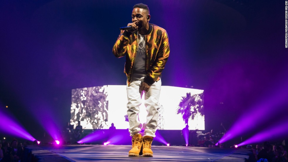 Kendrick Lamar performs at Los Angeles' Staples Center on October 28.
